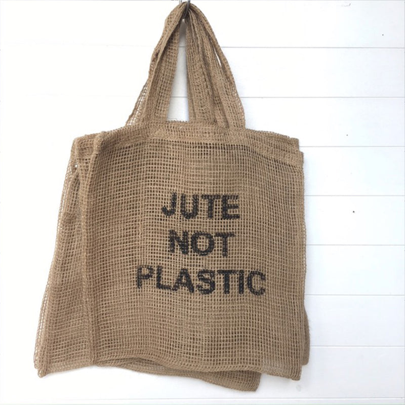 Jute Shopping Bag 'Jute Not Plastic' by Carnival Homewares - Available At Berry Jam Sweet Living