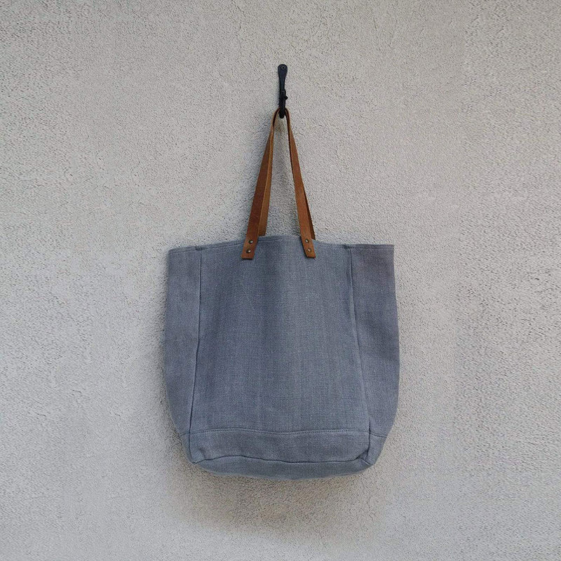 Jute Canvas Tote Ash by Dharma Door - Available At Berry Jam Sweet Living