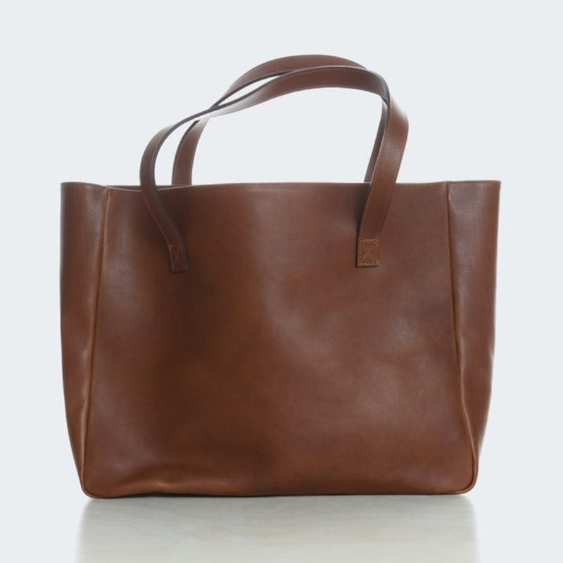 Leather Tote Chestnut
