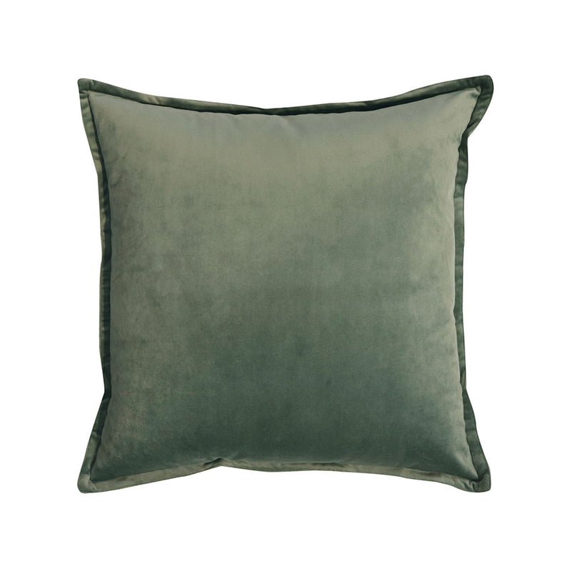 Mira Velvet Cushion Silt Green by Berry Jam - Available At Berry Jam Sweet Living