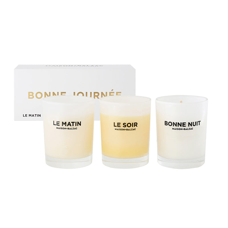 Bonne Journee Trio Of Mini Candles by Maison Balzac - Available At Berry Jam Sweet Living