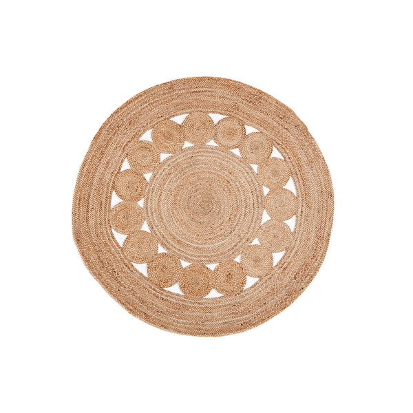 Medallion Round Jute Rug by Berry Jam - Available At Berry Jam Sweet Living