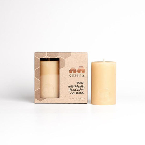 8cm Pillar Beeswax Candles