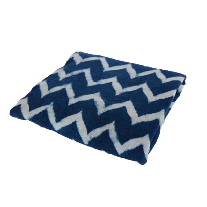 Chevron Indigo Throw by St Barts - Available At Berry Jam Sweet Living