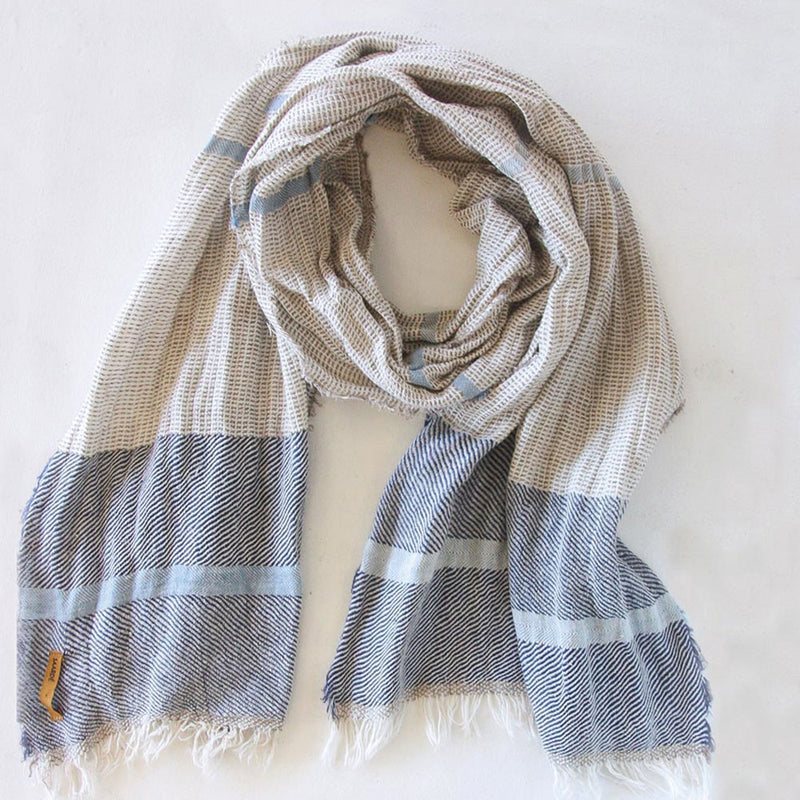 Shelter Scarf Blue by Saarde - Available At Berry Jam Sweet Living