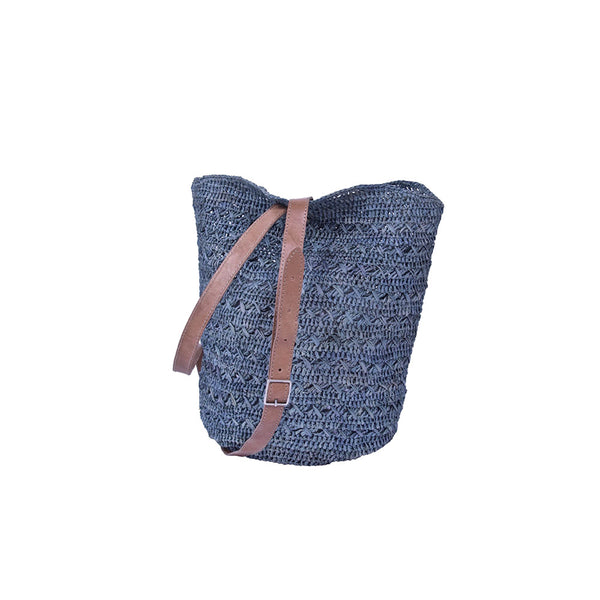 Vatana Raffia Bag Indigo by Tanora - Available At Berry Jam Sweet Living