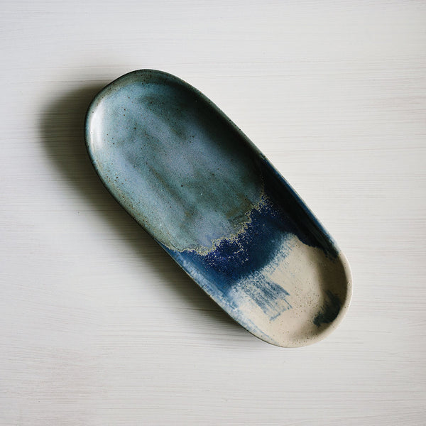 Midnight Blue Canoe Platter by Woodfolk - Available At Berry Jam Sweet Living