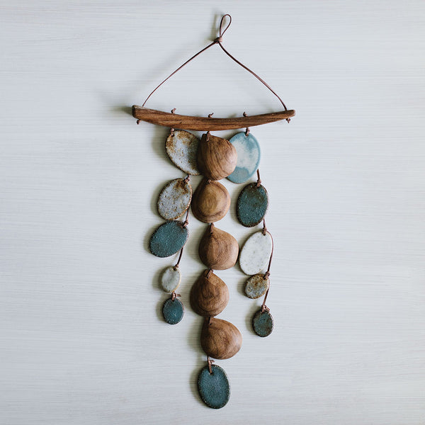 The Blues 3-Strand Wall Hanging by Woodfolk - Available At Berry Jam Sweet Living
