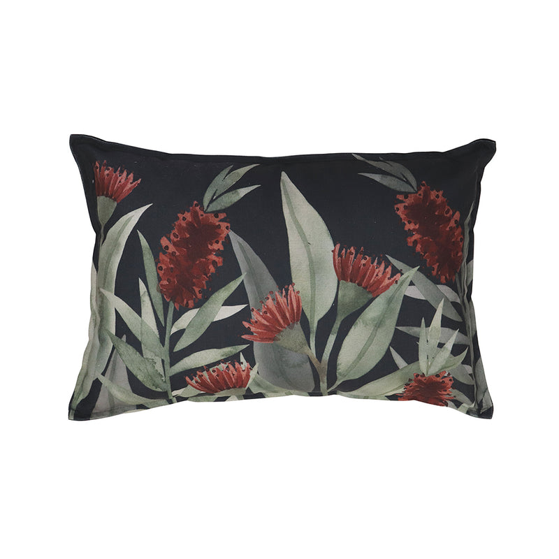 Bottlebrush Green/Rust Lumbar Cushion by Country Style - Available At Berry Jam Sweet Living