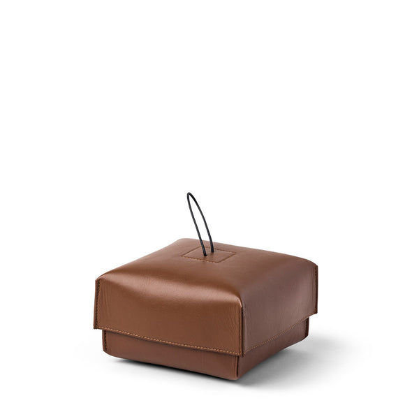 Nappa Leather Tan Box by L&M Home - Available At Berry Jam Sweet Living
