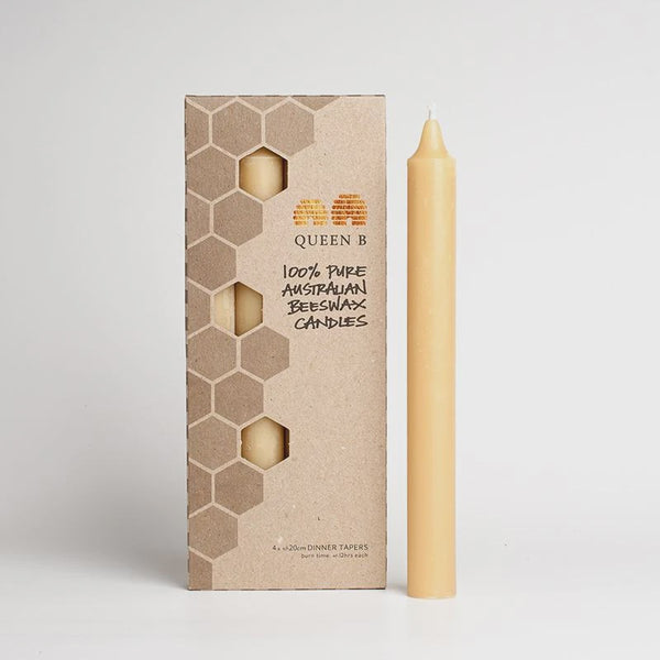 Taper Beeswax Candle 20cm
