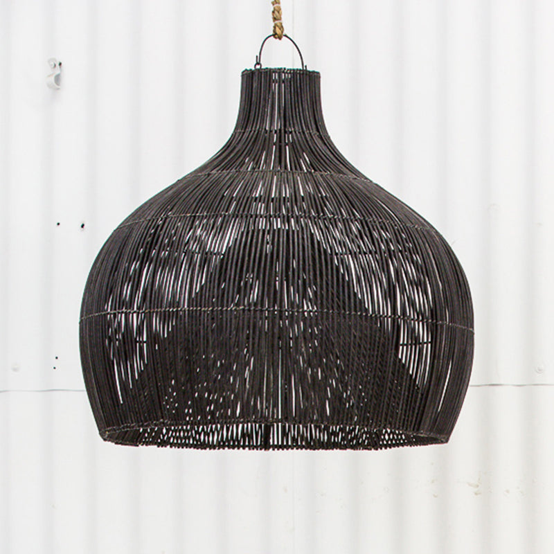 Dari Rattan Oversized Light Shade Black by Inartisan - Available At Berry Jam Sweet Living