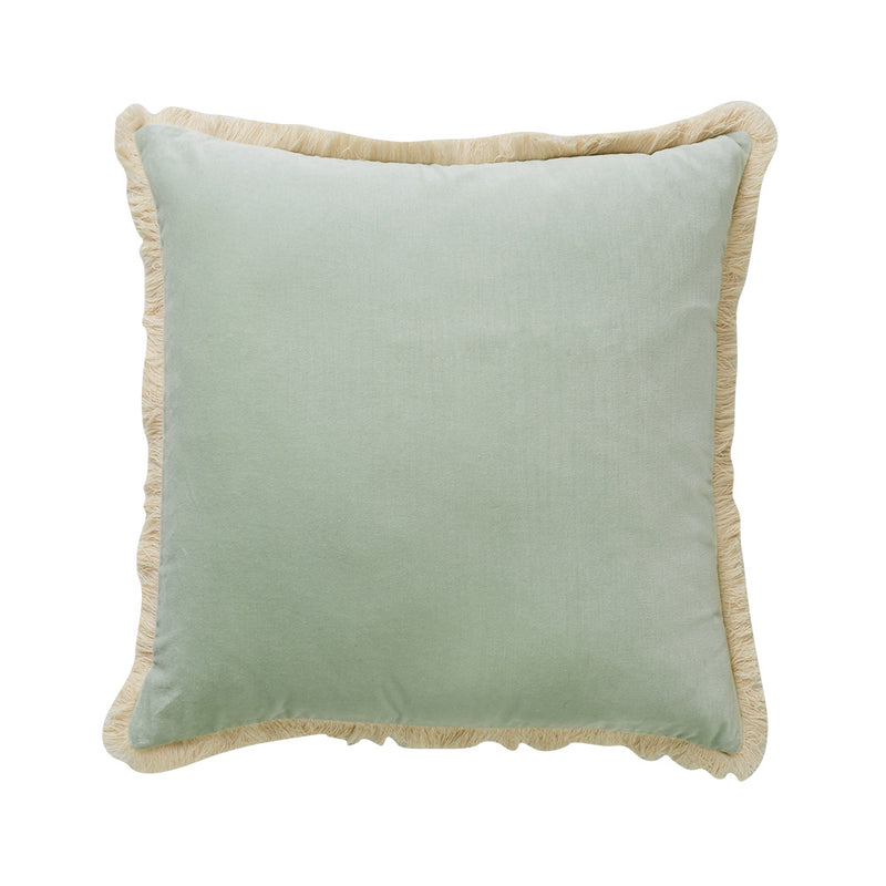 Figue Fringe Cushion Mint
