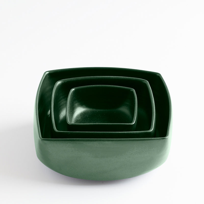 Ceramic Square Bowl Green by Ana Jensen Ceramics - Available At Berry Jam Sweet Living