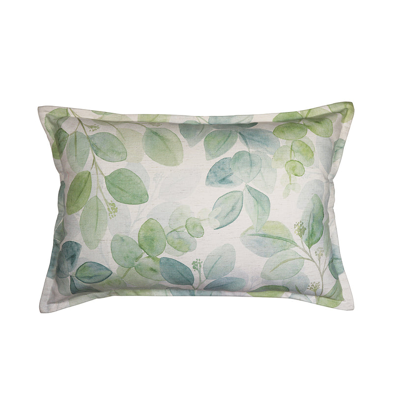 Gum Leaf Green Lumbar Cushion by Country Style - Available At Berry Jam Sweet Living