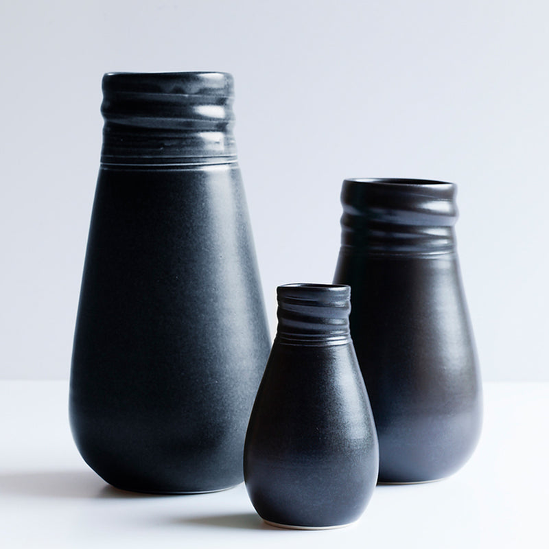 Ceramic Vase Black by Ana Jensen Ceramics - Available At Berry Jam Sweet Living