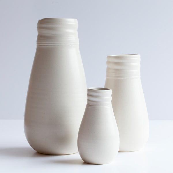 Ceramic Vase White by Ana Jensen Ceramics - Available At Berry Jam Sweet Living