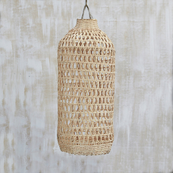 Handwoven Bamboo Tall Light Shade Natural by Inartisan - Available At Berry Jam Sweet Living