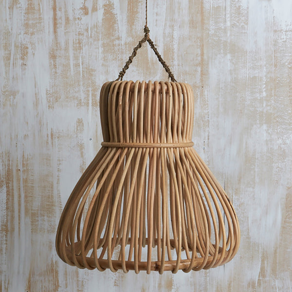 Handwoven Rattan Bell Light Shade by Inartisan - Available At Berry Jam Sweet Living