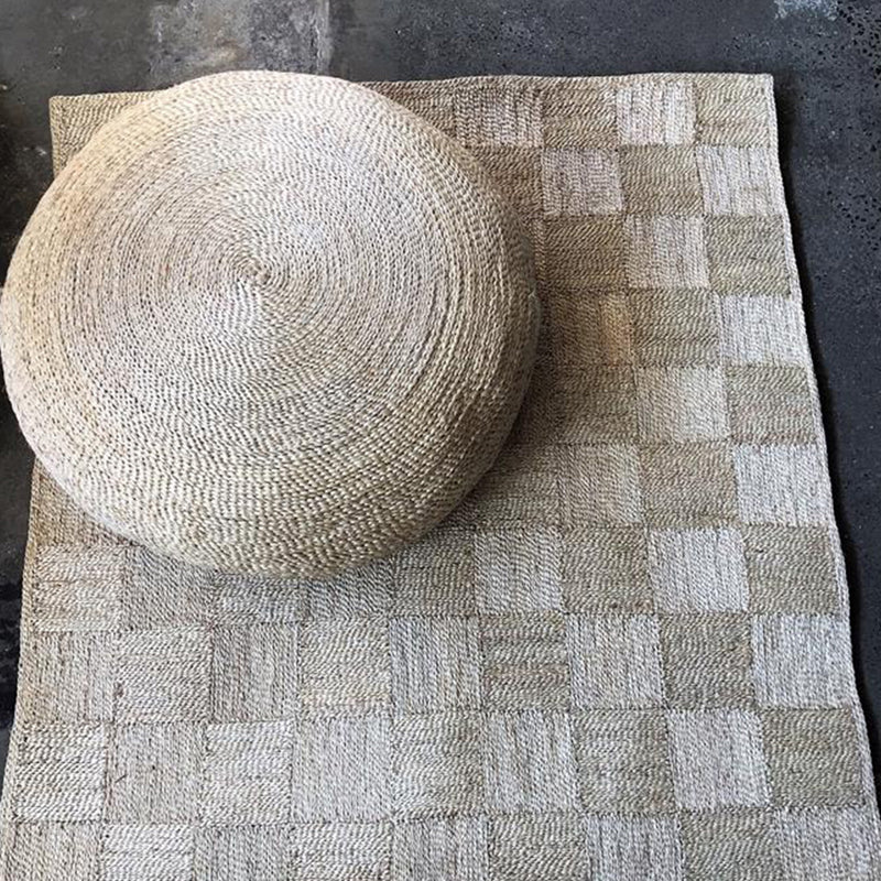Jute Floor Rug Check by Carnival Homewares - Available At Berry Jam Sweet Living