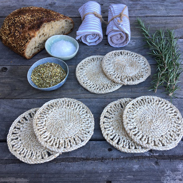 Plantation Coaster Natural Set 6 by Carnival Homewares - Available At Berry Jam Sweet Living