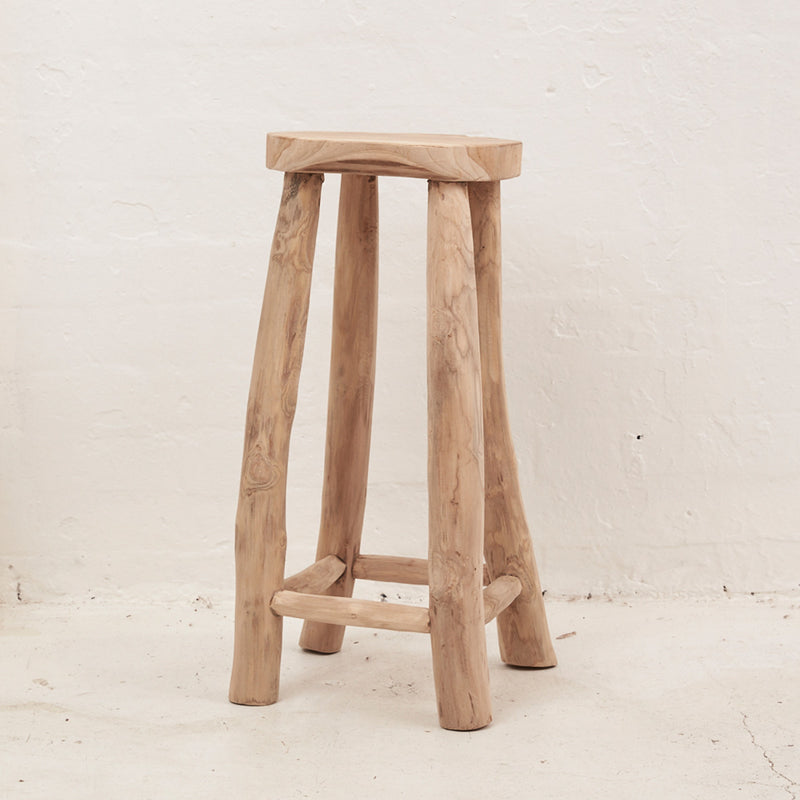 Lale Rustic Milking Stool 67cm by Inartisan - Available At Berry Jam Sweet Living