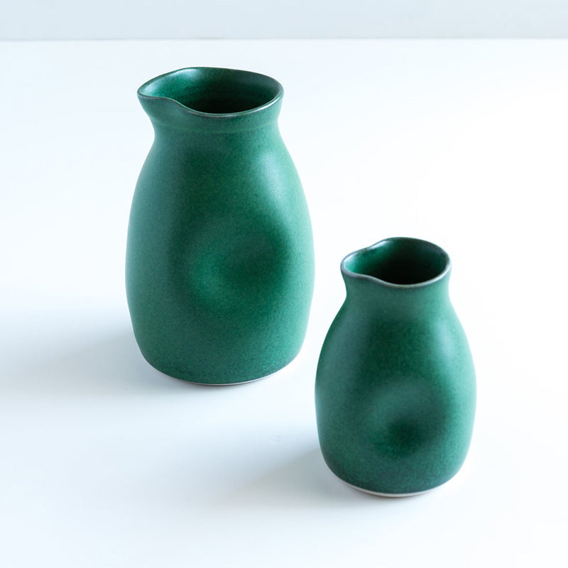 Ceramic Milk Jug Green by Ana Jensen Ceramics - Available At Berry Jam Sweet Living