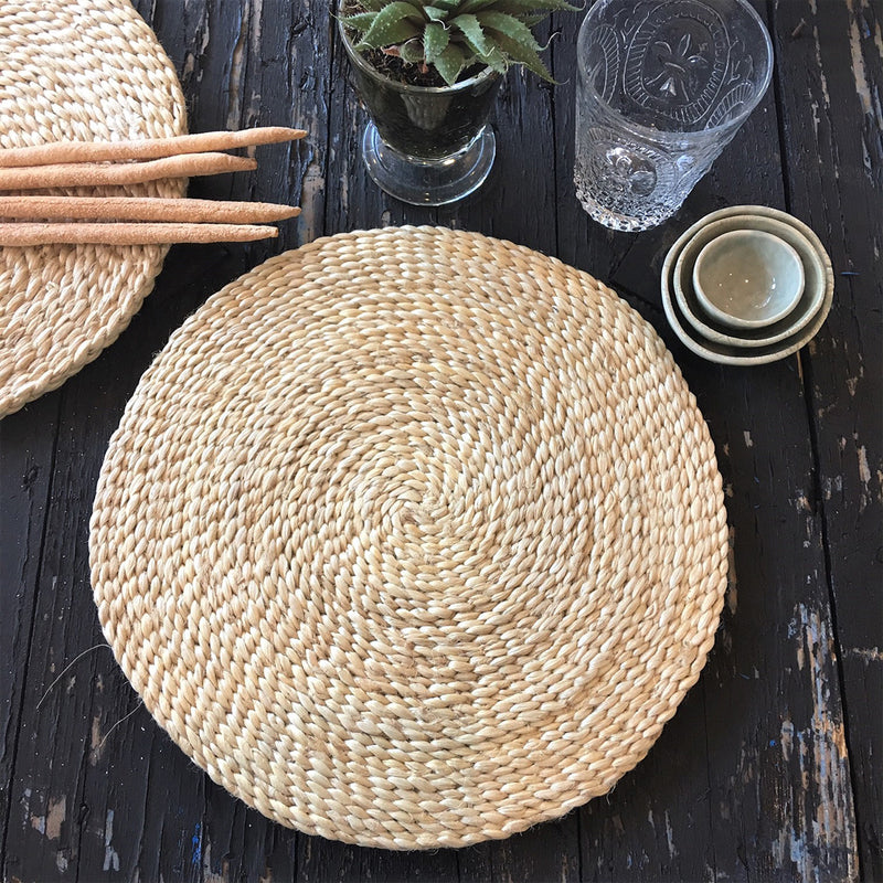 Jute Placemat Round 30cm by Carnival Homewares - Available At Berry Jam Sweet Living