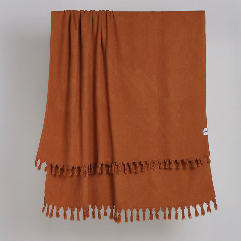 Vintage Wash Tobacco Blanket by Saarde - Available At Berry Jam Sweet Living