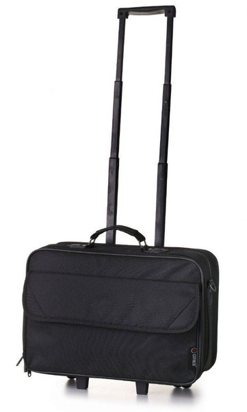 5 Cities 17'' Laptop Case on Wheels / Business Case on Wheels Briefcase Black