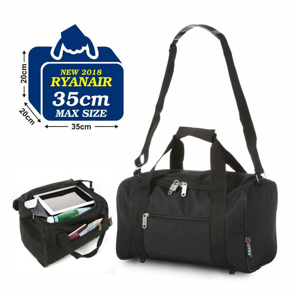 5 Cities Cabin Underseat Bag  Black 35x20x20 Ryanair