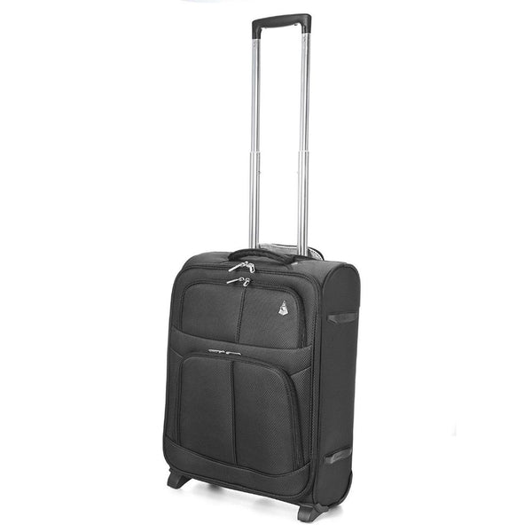 Aerolite Edinburgh 2 Wheel Cabin Case 55x40x20 Black Ryanair EasyJet