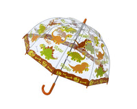 Bugzz Kids Printed Clear Dome Umbrella