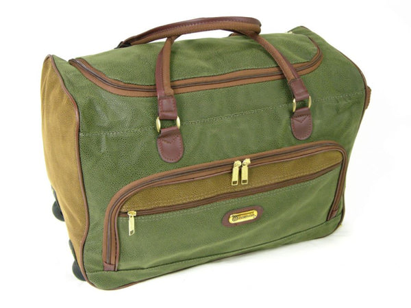 Compass Cabin Wheeled Holdall Travel Bag Trolley Cases Luggage Duffle Olive Tan