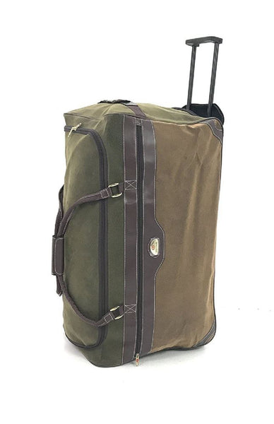 Compass Extra Large 30 Inch Wheeled Rolling Holdall Bag Olive/Tan
