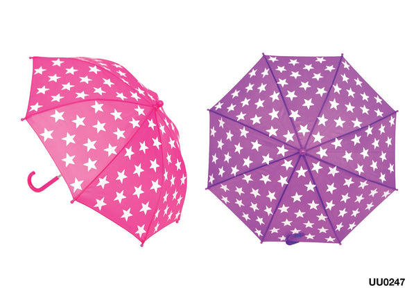 Drizzles Children's Umbrella Stars Print in 2 Colours
