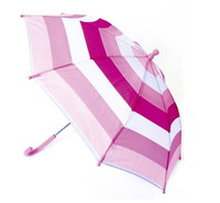 Drizzles Kids Striped Umbrella In Pink