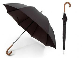Drizzles Mens Crook Handle Long Auto Umbrella