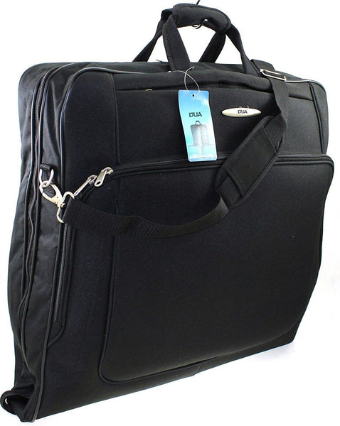DUA Deluxe Garment Suit Carrier Wardrobe Travel Luggage Bag Black