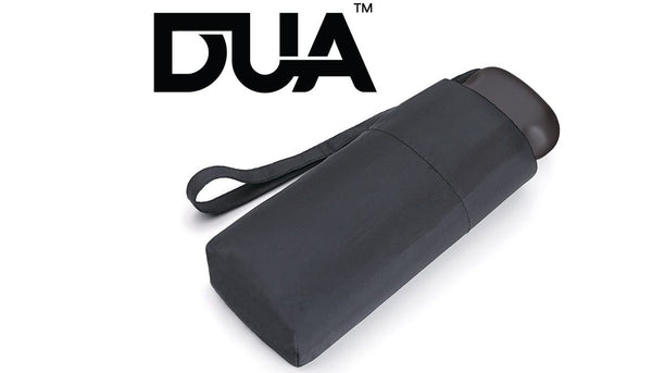 DUA Mini Flat Folding Umbrella Black