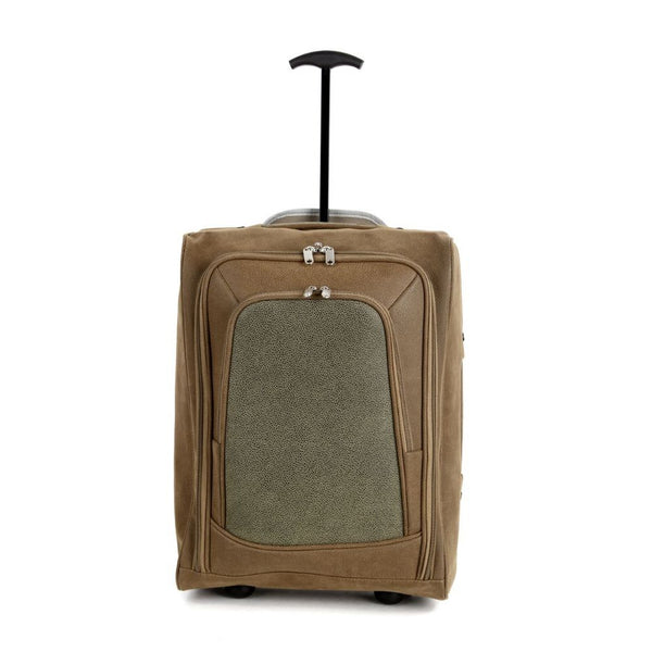 Faux Suede Lightweight Hand Luggage Trolley Cabin Bag Easyjet RyanAir