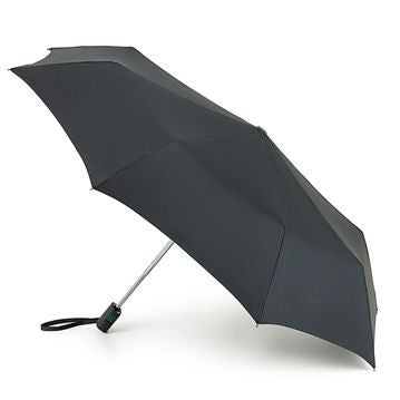 Fulton Auto Open & Close Mens Compact Flat Umbrella Black
