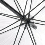 Fulton Luxe Clear Birdcage Dome Fabric Border Walking Umbrella Photo Rose & Luminous Floral