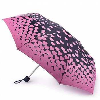 Fulton Minilite-2 Compact Folding Umbrella Floating Hearts