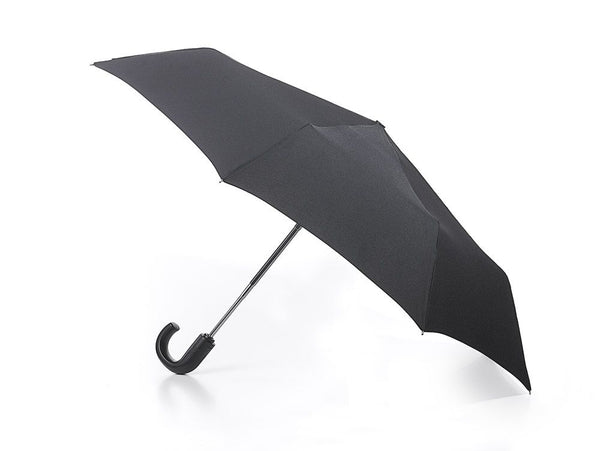 Fulton Open & Close Mens Crook Handle Auto Umbrella Black