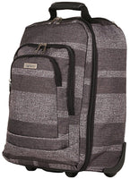 Highbury Cabin Size Wheeled Trolley Case in Grey Stripe Ryan Air / Easy Jet Size