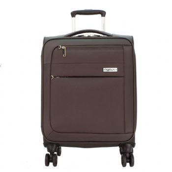 Highbury Dynamic Soft Shell Four Wheel Expandable Anti Theft Zip Luggage Cases Various Colours