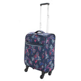 Highbury Vintage Bloom Stylish Spinner Expandable Cases And Holdall Cabin Flight Bag