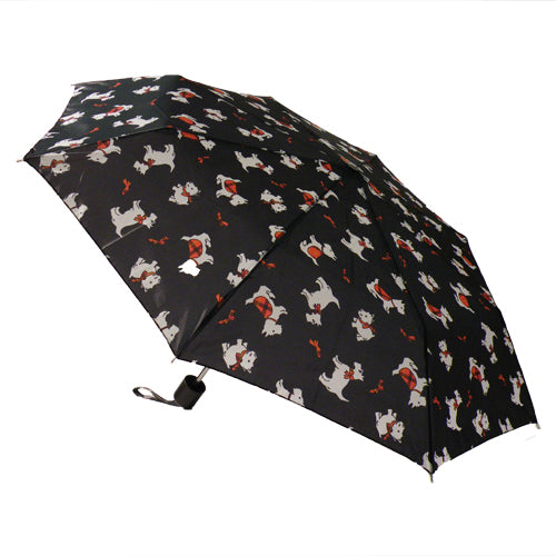 Incognito Scottie Dog Pattern Compact Umbrella