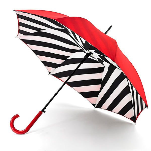 Lulu Guinness by Fulton Ladies Bloomsbury-2 Umbrella Diagonal Stripe Print